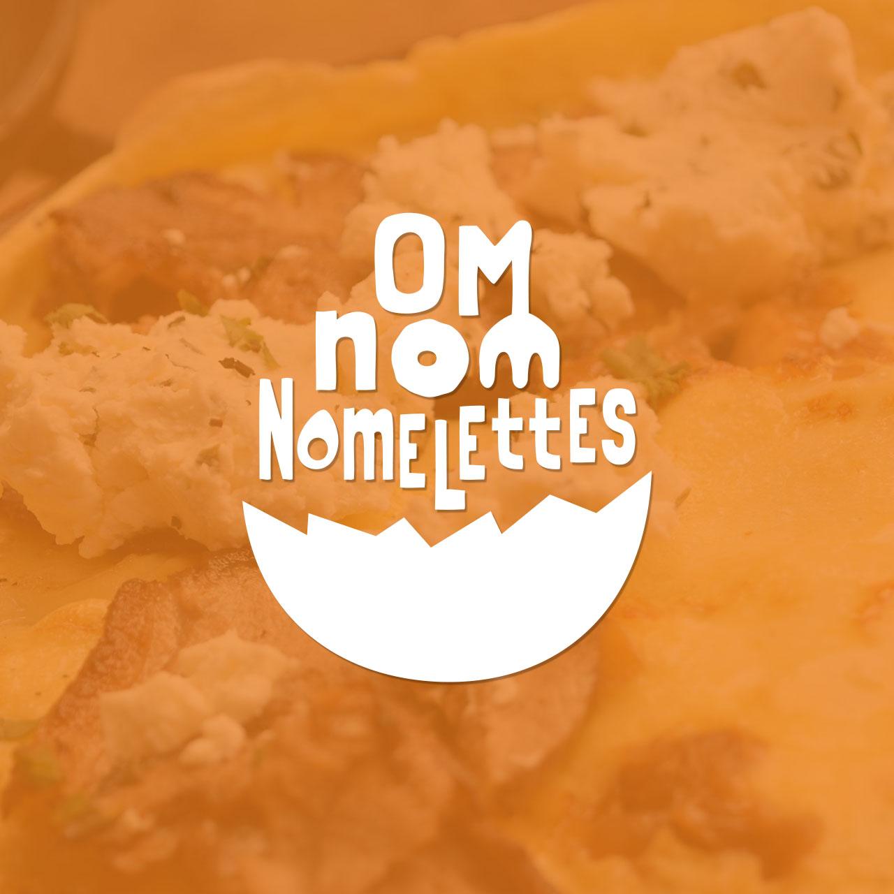Om Nom Nomelettes Logo, Identity, & Website