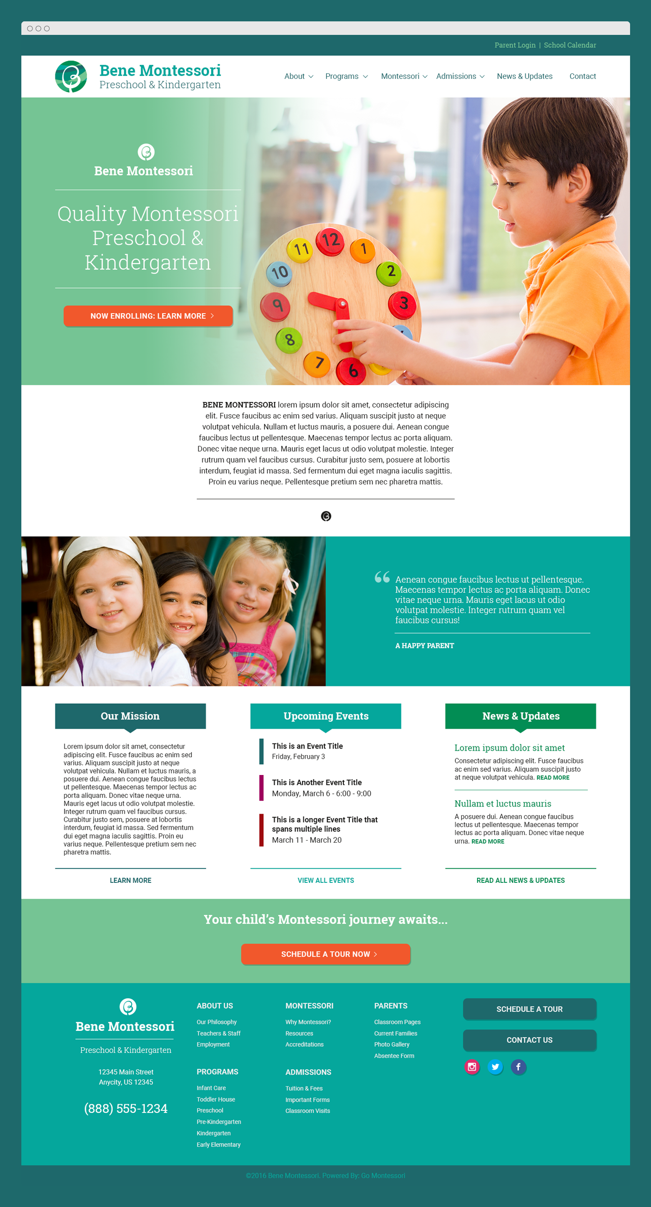 """Brazelton"" Go Montessori Quick Launch Parent Theme"