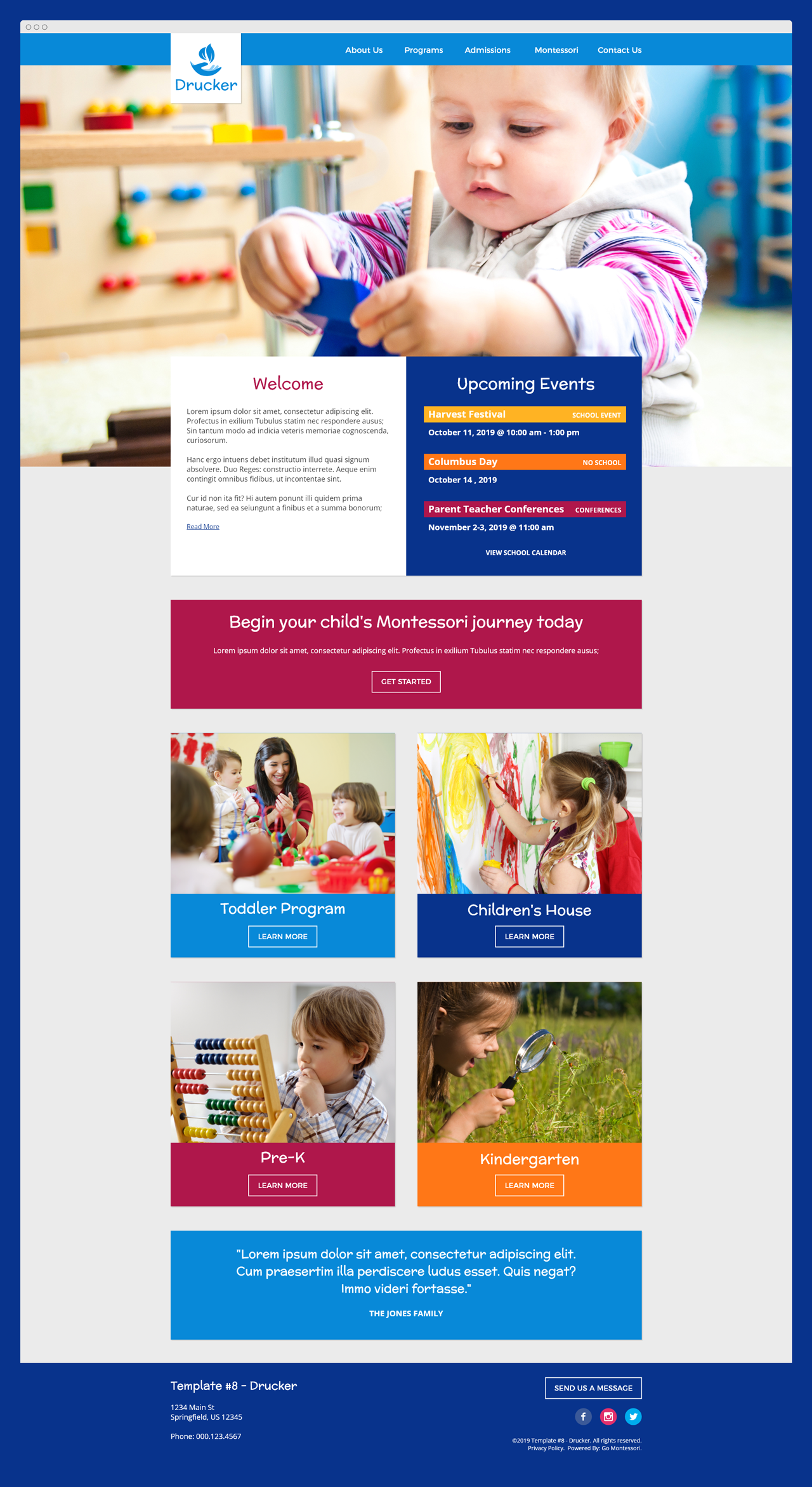 Drucker - Go Montessori Quick Launch Parent Theme