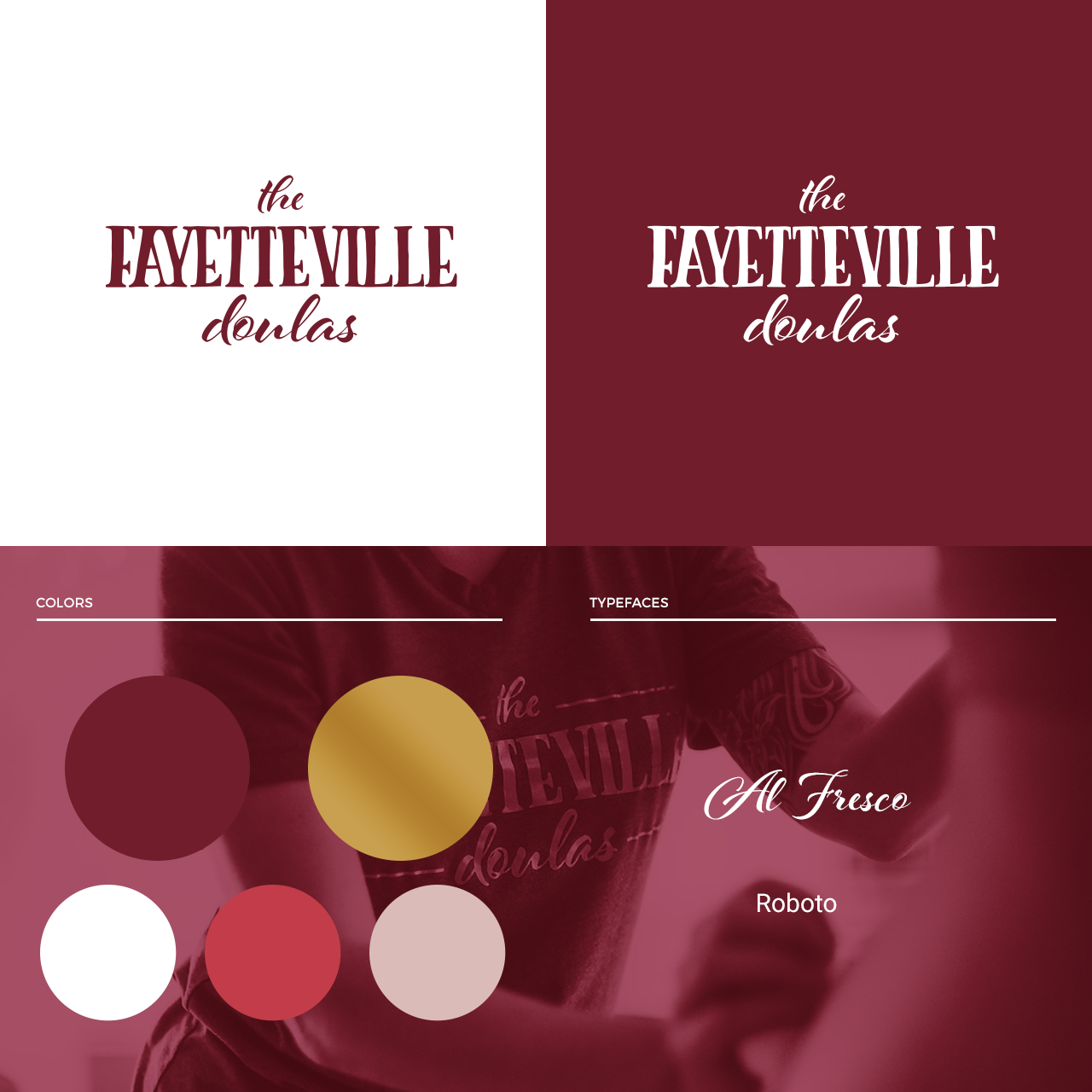 The Fayetteville Doulas branding layout