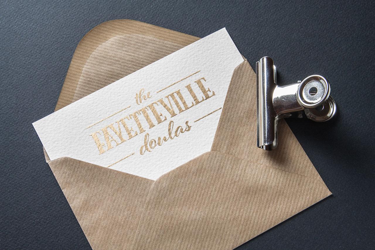 The Fayetteville Doulas logo mockup