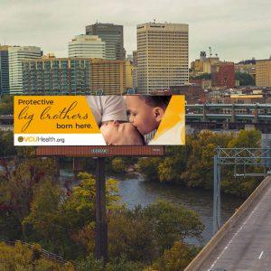 VCU Labor & Delivery billboard concept mockup
