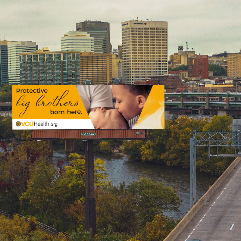 VCU Labor & Delivery billboard concept mockup