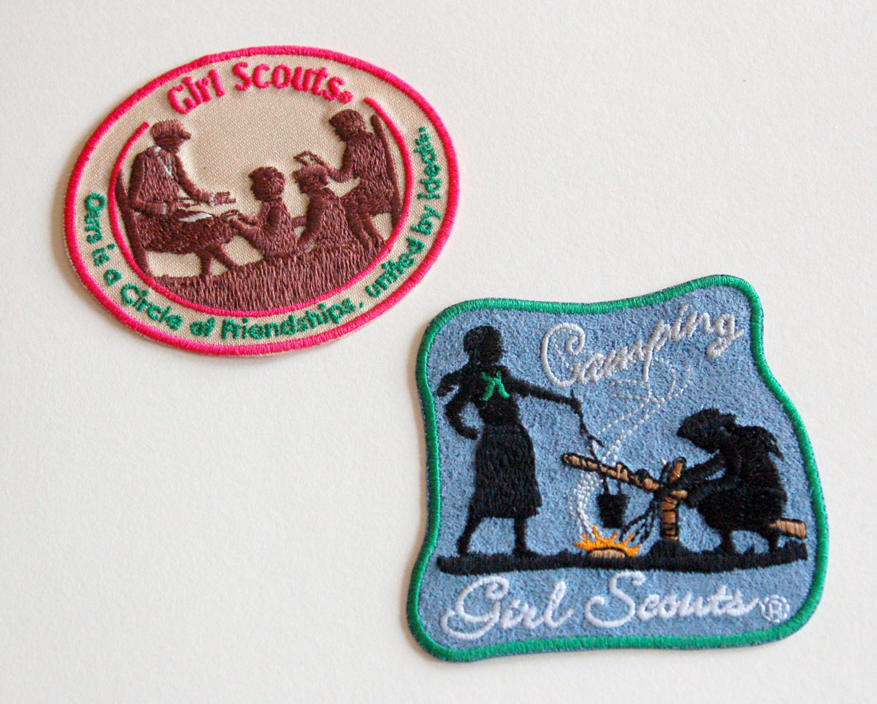 Girl Scout Fun Patches vintage patches