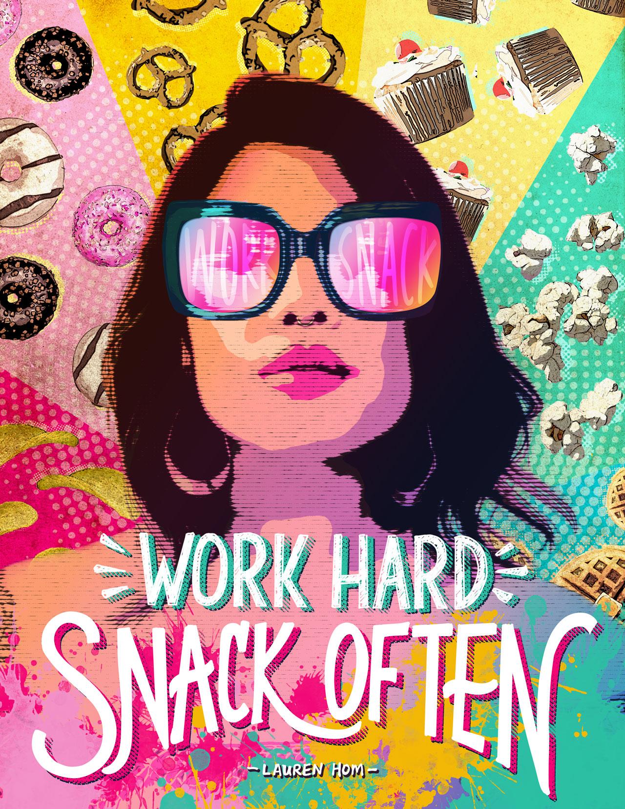 Lauren Hom inspired pop-art poster design